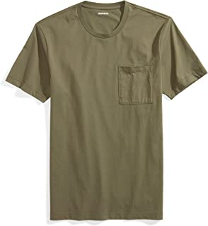 Men's Short-Sleeve Crewneck Cotton T-Shirt with Pocket