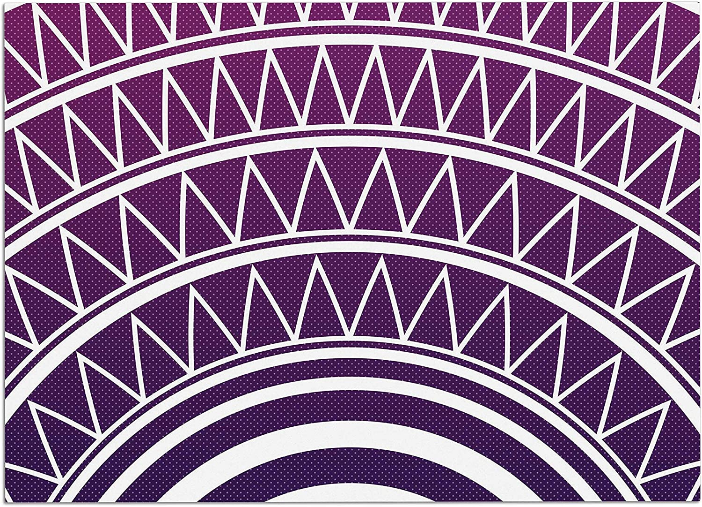 KESS InHouse ME1038ADM02 Matt Eklund Amethyst Portal Purple White Dog Place Mat, 24  x 15