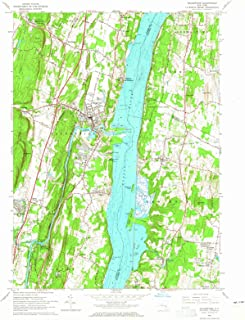 New York Maps - 1963 Saugerties, NY USGS Historical Topographic Map - Cartography Wall Art - 44in x 55in