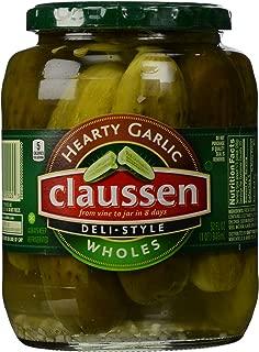 Claussen Deli Style Garlic Whole Pickles (32 oz Jar)