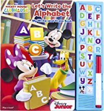 Disney Mickey Mouse Clubhouse - Let's Write the Alphabet My Write-and-Erase Wipe Clearn Learning Board Sound Book - PI Kids
