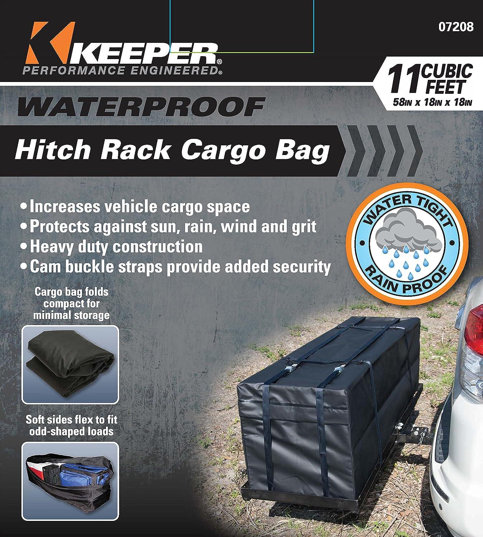 Black 11 Cubic Feet Keeper 07202 Waterproof Rooftop Cargo Bag