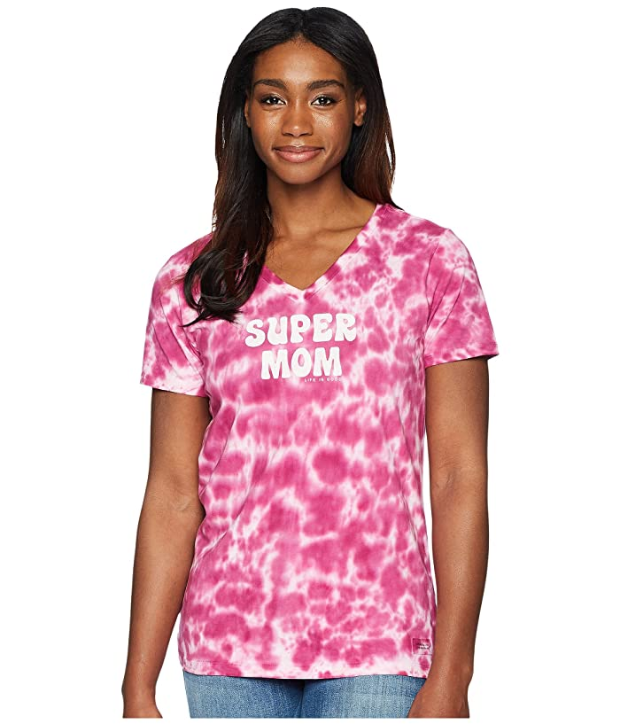 44957d0ac51e00 Life is Good Super Mom Crusher Vee Tee at 6pm
