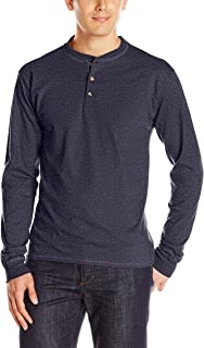 Men's Long-Sleeve Beefy Henley T-Shirt - Large - Hanes...