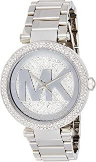 Michael Kors Casual Watch Analog Display Japanese Quartz For Women Mk5925, Silver Band