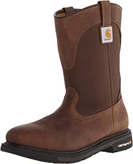"""CARHARTT Men's 11"""" Wellington Square Safety Toe Leather Work Boot CMP1218"""