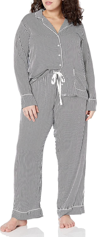 Splendid 2021 new Women's Notch Collar Set Long Sleeve Max 74% OFF Pajama