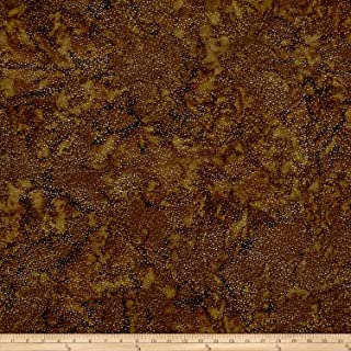Hoffman Fabrics 0569380 Hoffman Bali Batik Dot Chocolate Fabric by The Yard,