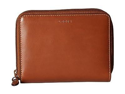 Lodis Accessories Audrey RFID Laney Continental Double Zip Wallet (Sequoia/Papaya) Wallet Handbags