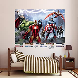 FATHEAD Avengers Assemble: Mural-Huge Officially Licensed Marvel Removable Graphic Wall Decal