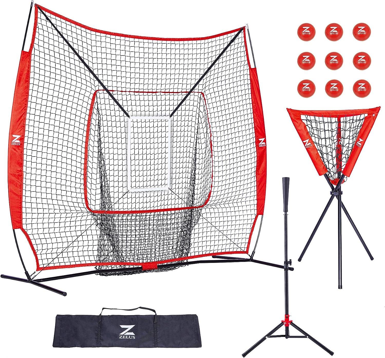 一部予約 ☆正規品新品未使用品 ZELUS 7x7 Baseball and Softball Practice Batting Bal Net Tee +