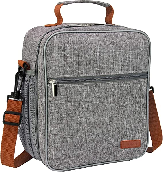 Buways Lunch Box Insulated Lunch Bag For Men Adults Women Durable Spacious Lunchbox For Work Picnic Hiking 25 LARGER Greater Storage Grey