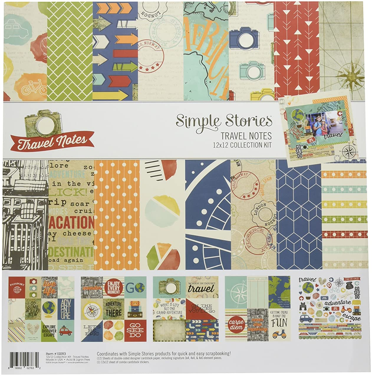 Simple Stories Travel Notes Collection Kit