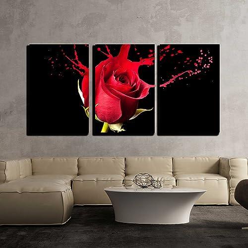 3 Piece Art With Red Amazoncom