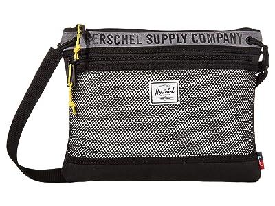 Herschel Supply Co. Alder (Mid Grey Crosshatch/Light Grey Crosshatch/Black) Handbags