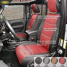 Smittybilt 577130, Front/Rear Red/Black for 2018+ Jeep JL 4 Door, GEN2 Neoprene Seat Covers
