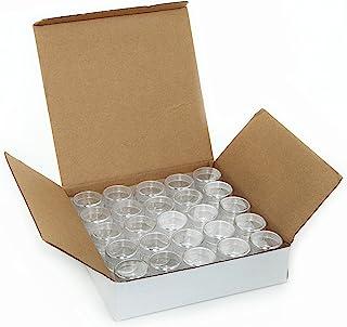 Vivaplex, 50, Clear, Empty, 5 Gram Plastic Pot Jars, Cosmetic Containers.