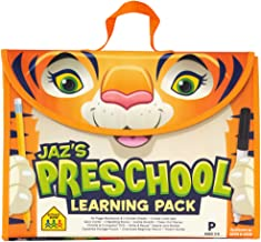 School Zone - Jaz's Preschool Learning Pack - Ages 3-5, Workbook, Flash Cards, Early Reading Books, Math, Write & Reuse, E...