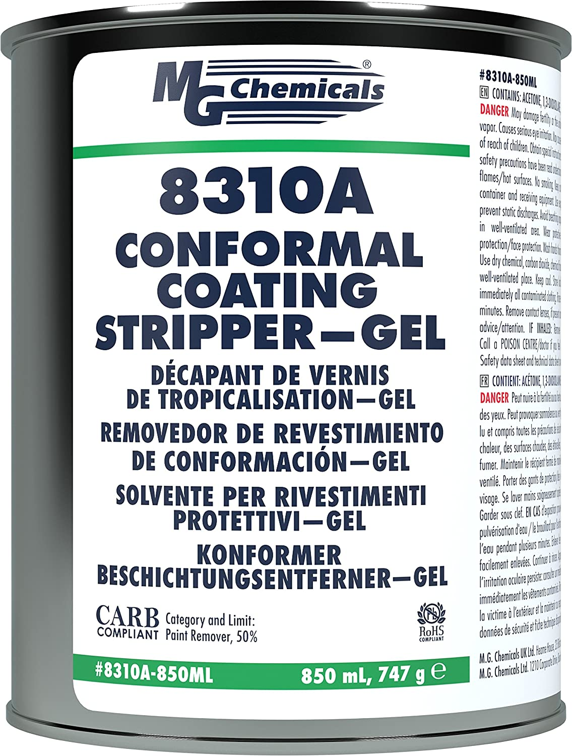 MG sold out Chemicals 8310A San Francisco Mall Conformal Coating Stripper Typ Drip - Gel Non