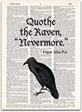 The Raven, Edgar Allan Poe Quote, Dictionary Page Art Print, 8x11 inches, Unframed