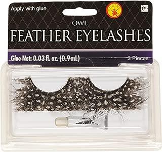 Rubie's Owl Feather Eyelash, Brown, One Size