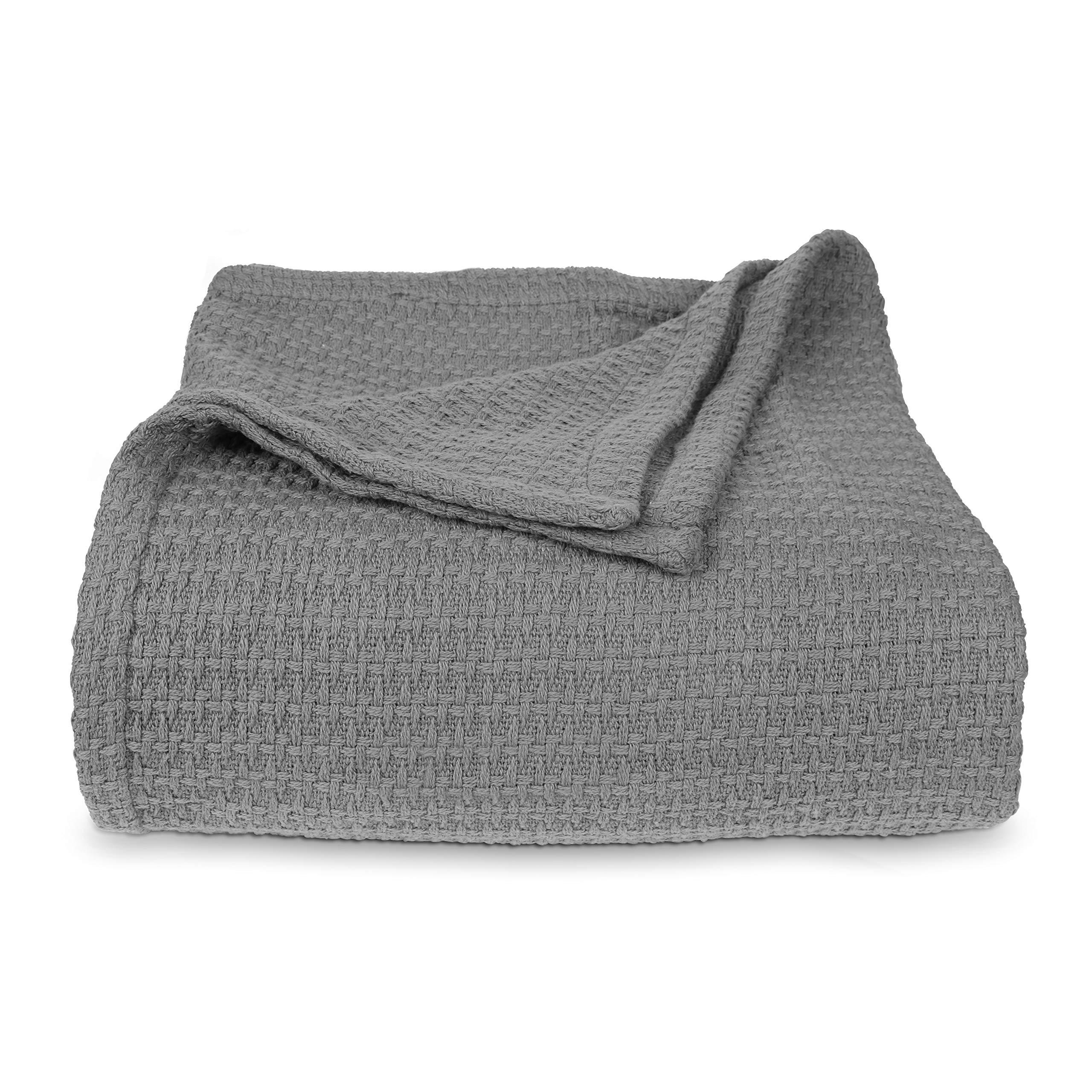 Manta de hotel – suave y lujosa manta de algodón – manta de verano e invierno – cálida, acogedora
