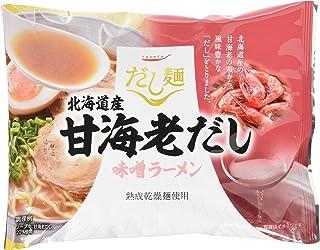 K&K だし麺 北海道産甘海老だし味噌ラーメン 104g×10個