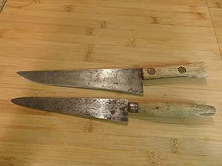 Primitive Carbon Steel Chefs Knives Free Masons Knife   Working Kitchen   Chefs Knife   Carbon Steel Knife   Civil War Era Knife   Sous Chef