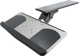 VIVO Adjustable Computer Keyboard and Mouse Platform Tray | Ergonomic Under Table Desk Mount Drawer (MOUNT-KB01)