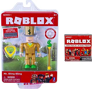 Roblox Toys Pack - Mr. Bling Bling Mystery Box Series 1 - Great gift for birthday parties or fans and collectors