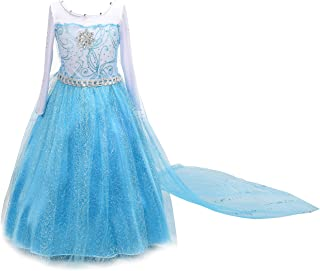 Dressy Daisy Girls Frozen Princess Elsa Dress Up Costumes Party Dresses Long Train