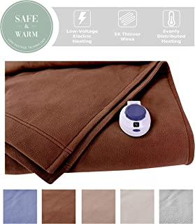 Soft Heat Electric Warming Blanket Full Size-Chocolate