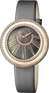 Women's Fifth Avenue Stainless Steel Swiss Quartz Watch with Satin Strap, Grey, 18 (Model: 3345.2)