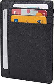 Small RFID Blocking Minimalist Slim Credit Card Holder Pocket Wallets for Men Women