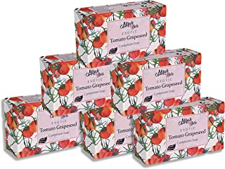 Mirah Belle - Organic Tomato Grapeseed Complexion Soap Bar (Pack of 6-125 gm) -For Skin Brightening and Glow. Good for Dul...