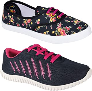 Shoefly Women Multicolour Latest Collection Sports Running Shoes-Pack of 2 (Combo-(2)-611-5026)