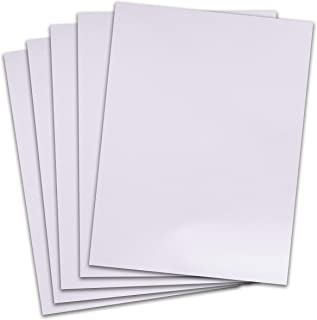 Rozzy Crafts - White Flock Heat Transfer Vinyl (HTV) - Flocked - 5 Sheets Each 12 inches by 10 inches - Works with Cricut, Silhouette, and All Other Cutting Machines