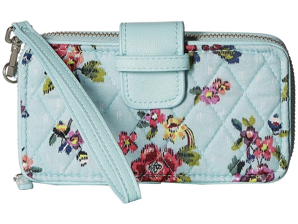 Vera Bradley RFID Smartphone Wristlet (Water Bouquet) Wristlet Handbags