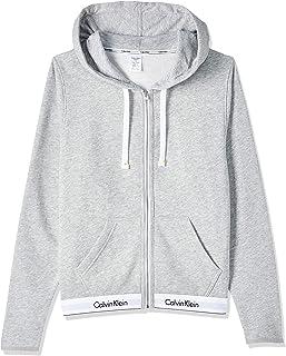 Calvin Klein Women's Top Hoodie Full Zip Knits, Grey (Grey Heather 020), Medium