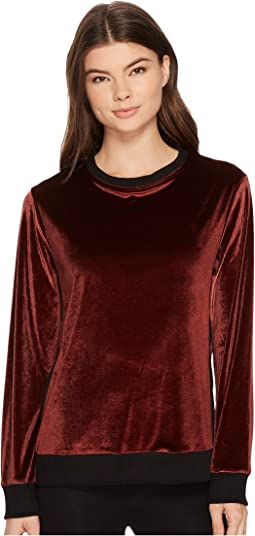 DKNY - Velour Long Sleeve Top