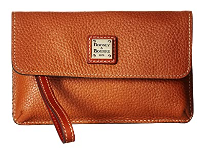 Dooney & Bourke Pebble Milly Wristlet (Caramel/Tan Trim) Wristlet Handbags