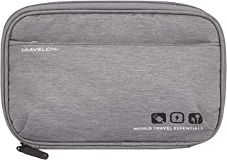 Travelon World Travel Essentials Tech Organizer, Gray Heather, One Size