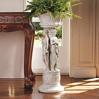 Design Toscano Chatsworth Manor Neoclassical Urn Pedestal Plant Stand