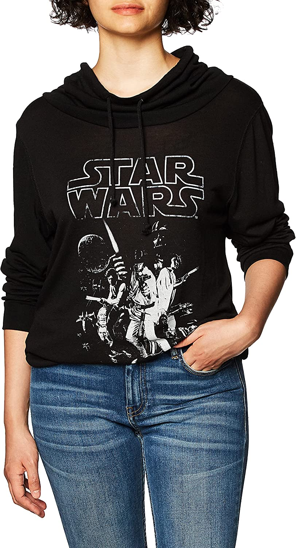 3. Star Wars Women's Cowl Neck Sweater
