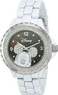 Disney Women's 'Mickey Mouse' Quartz Metal and Alloy Watch, Color:White (Model: W002893)