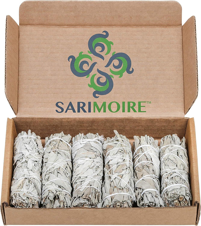 Sarimoire Conjuntos de salvia Bundles Sabio 10cm Wand Blanco
