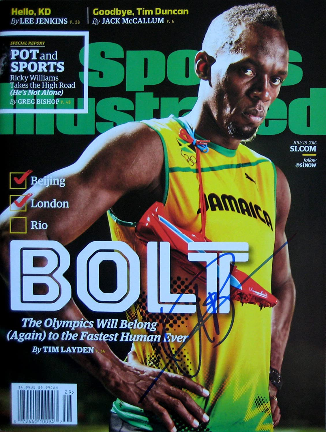 USAIN BOLT quality assurance Ranking TOP10 Jamaica Olympics magaz autographed Sports Illustrated