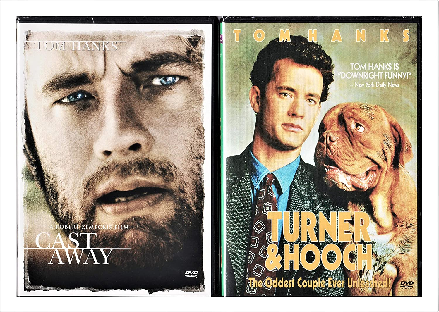 Tom Hanks Max 54% OFF Double Feature Purchase - Turner and 2-DVD Bu Hooch Cast Away