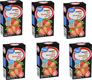 Great Value Sugar Free Low Calorie ENERGY Drink Mix WILD STRAWBERRY 10 per box (6 Pack) 60 packets