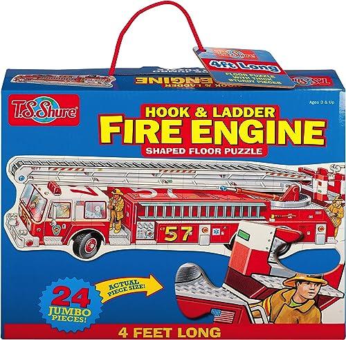 Meiner Shure Feuerwehrauto geformte Jumbo Boden Puzzle